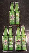 """Heineken & Heineken Light Lot of (3) Hard Plastic Beer Signs 18x8.5"""" - Brand New"""
