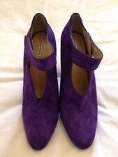 Emporio Armani women's Suede High Heels Pump Strap Shoes Purple uk 7 eu 40