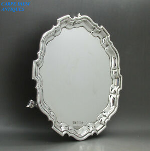 GEORGIAN STYLE NICE HEAVY SOLID STERLING SILVER WAITER SALVER 300g SHEFF 1938