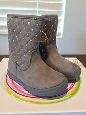 New Piper Toddler Girl's Scrat Boot Gray Suede Shoes Size 6 Jewel