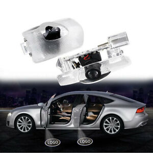 2x LED Door Shadow Light Step OPen Welcome Projector Ghost Laser Lamp For Toyota