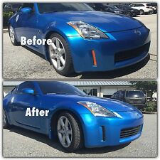 2006-2009 350Z Smoked Front Bumper Light Side Marker Overlay tinted vinyl tint
