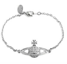Classic Orb Crystal Mini Bas Relief Bracelet _ Silver Valentine for Her