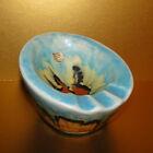 Rare Fohr Keramik German Pottery Ceramic MCM Ashtray West Germany Unusual Shape