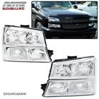 4PC CHROME CLEAR HEADLIGHTS + SIGNAL BUMPER LAMPS FOR 2003-2006 CHEVY SILVERADO  for sale
