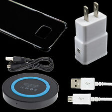 Hard Case + Wireless Charge Pad + Wall Adapter + Cord For Samsung Galaxy S7 Edge