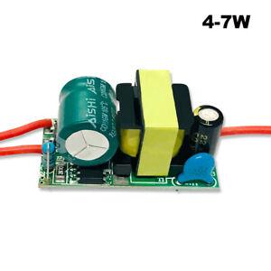 DC 4- 7W 5pcs LED Power Supply Driver AC 85V 265V Constant Current Transformer