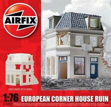 Airfix A75003 Time European Corner House Ruin 1/76th Un-Painted- Tracked 48 Post