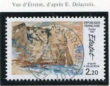 TIMBRE FRANCE OBLITERE N° 2463 VUE D'ETRETAT / Photo non contractuelle