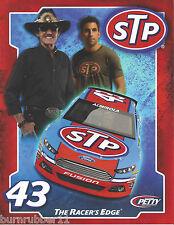 "2013 RICHARD PETTY / ARIC ALMIROLA STP #43"" NASCAR SPRINT CUP SERIES POSTCARD"