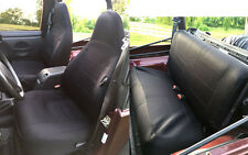 Jeep Wrangler 1997-02 Neoprene Front & Rear Car Seat Cover Full Set BLACK tj127