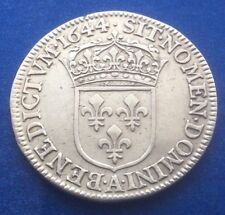 1644 FRANCIA RE LUIGI XV argento moneta da 1/4 ECU