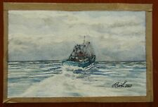 Gone fishing ,Water Colour Painting Original -17 1/2 cmx 11cm
