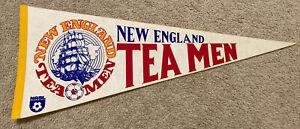 NASL New England Tea Men Vintage Circa 1980's Team Logo Soccer Pennant Full Size