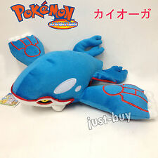 "Pokemon Kyogre #382 Plush Soft Toy Character Stuffed Animal Doll Teddy 14"" BIG"