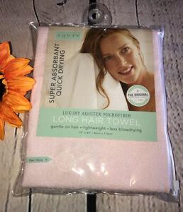AQUIS Original Hair Towel Ultra Absorbent & Fast Drying Microfiber Pink | NEW