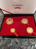 Krügerrand 2006 Gold, PP, 4 Münzen Set, 1 Unze, 1/2, 1/4, 1/10. Also 1,85 Unzen