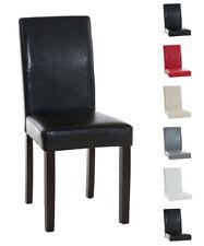 Esszimmerstuhl INA dunkelbraunes Gestell Holz Küchenstuhl Stühle Hochlehner