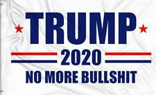 3x5 Ft President Donald Trump Flags 2020 NO More Bullshit MAGA Re-Election Flag