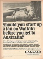 1967 Original Advertising' Vintage Qantas Airlines Australia Female Costume Sea