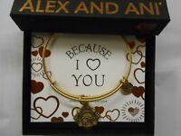 Alex and Ani Because I Love You GRANDMOTHER III Bracelet Rafaelian Gold NWTBC