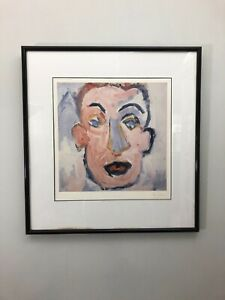 Bob Dylan Self Portrait Signed Lithographic Print 1970 Framed with Certificate