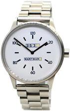 Wartburg 353S Herrenuhr Quarz Edelstahl Uhrenarmband gebürstet weiß 42mm