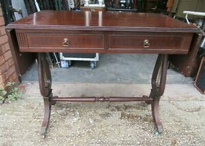 Vintage Antique Drop Leaf Console Hall End Side Table Drawer Claw Feet