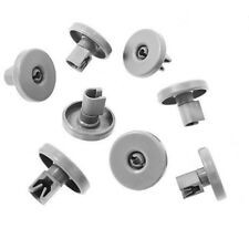 8X Dishwasher Lower Basket wheels for ZANUSSI ZDF2015 ZDF201X ZDF2020 ZDF2025 UK