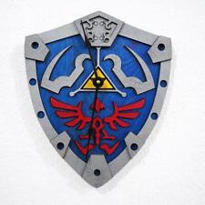 Zelda Wall Clock - Link's Hylian Shield .