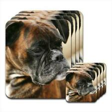 Brown Boxer Dog Close Up Of Face Set of 4 Placemats & Coasters