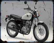 Honda Cb223S 08 A4 Metal Sign Motorbike Vintage Aged