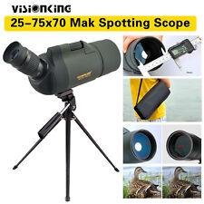 Spotting Scope 25-75x70 Sports Visionking MAK Zoom Bak4 w/ Tripod Case Outdoor