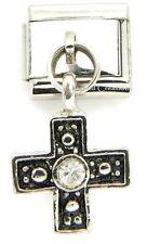 Celtic Cross 9mm Italian Charm Stainless Dangle Link Religious Irish Religion