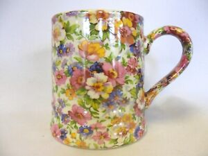 Olde England chintz tankard mug by Heron Cross Pottery