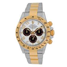 ROLEX 18K Yellow Gold Steel 40mm Daytona Cosmograph 116523 Panda Dial Box MINTY