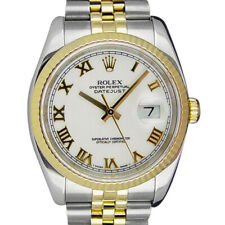ROLEX - 18kt Gold & Stainless Mens DateJust BOLD White Roman 116233 SANT BLANC