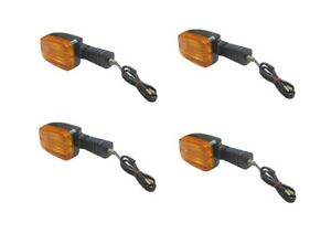 Indicators Complete Set of 4 Front & Rear For Suzuki DR 125 S (Disc) 1985-1988
