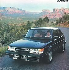 1984 SAAB 900 / TURBO Sales Brochure/Poster