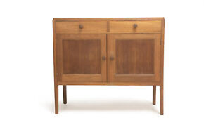 1950's British Air Ministry Oak Military Cabinet Sideboard