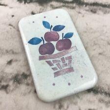 Vintage Basket Of Apples Refrigerator Magnet Collectible Cottagecore Farm House
