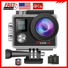 Action Camera 4K 16MP Touch Screen WiFi 30M Waterproof Camcorder Remote Control
