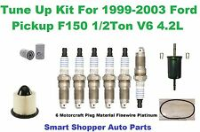 99-03 Ford F150 1/2Ton V6 Serpentine Belt Oil Air Fuel Filter Spark Plug Tune Up