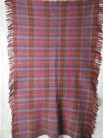 """Original John Hanley & Co Lap Blanket 100% Pure Wool Woven In Ireland 48"""" x 32"""""""