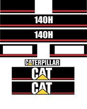 Caterpillar 140H Motor Grader Decal Sticker Set