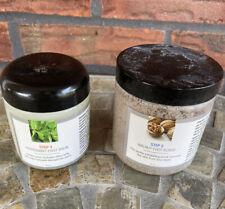 Lemongrass Peppermint Foot Balm Walnut Scrub 2 Piece Tubs 75% Full 25% Used