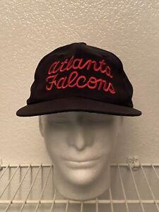 Vintage Eastport Atlanta Falcons NFL Snapback Hat Clean Black Cap 90's Starter
