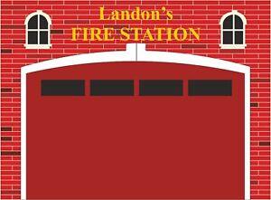Fire Station Engine Fireman Sam Wall Stickers Mural Decal Wallpaper FS33