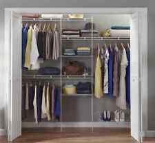 ClosetMaid 1608 5ft. to 8 Ft. Closet Organizer Kit White 5- Shelf Clothes Shoes