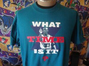 Vintage 90s NIKE Michael Jordan What Time is It Gray Tag T Shirt XL